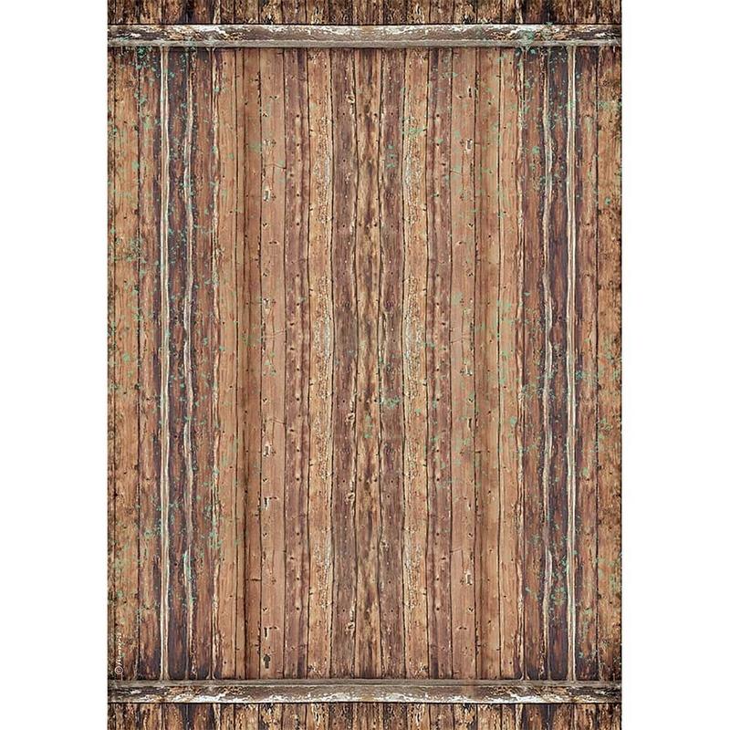 Ριζόχαρτο Stamperia 29,7x42cm A3, Amazonia wood