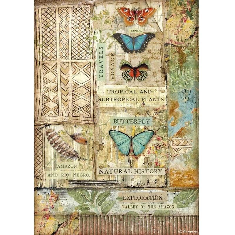 Ριζόχαρτο Stamperia 21x29cm, Amazonia, Butterfly