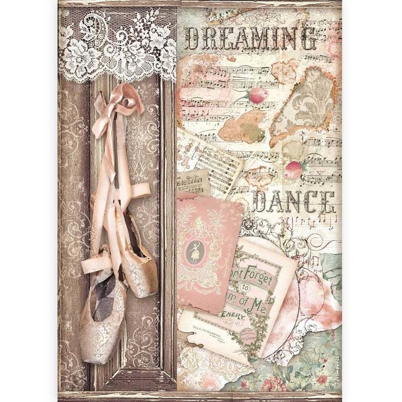 Ριζόχαρτο Stamperia 21x29cm, Passion, Dance shoes