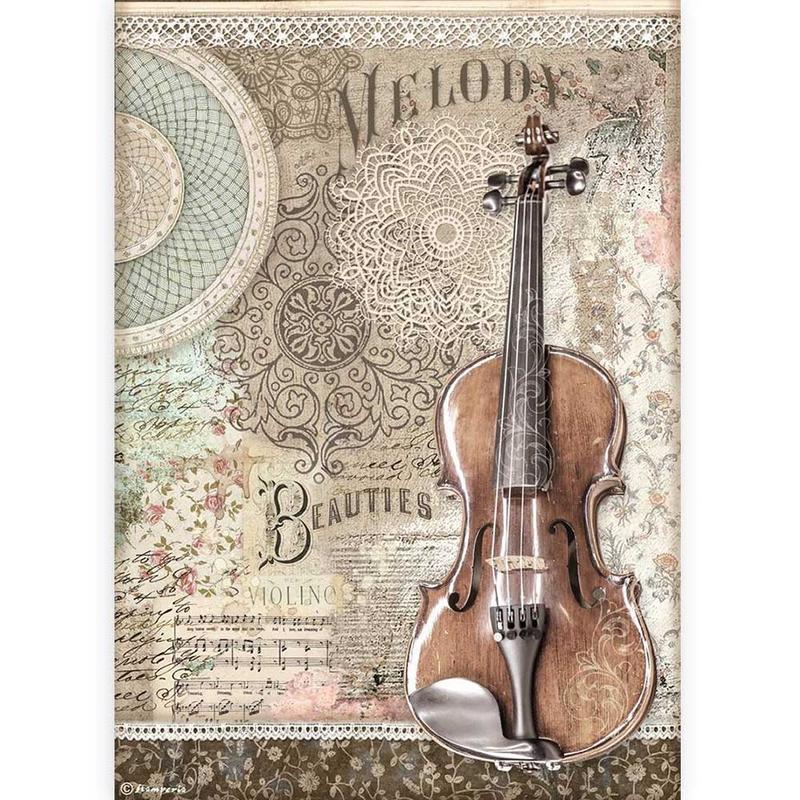 Ριζόχαρτο Stamperia 21x29cm, Passion, Violin
