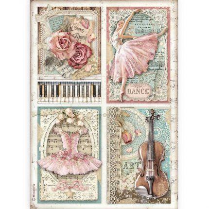 Ριζόχαρτο Stamperia 21x29cm, Passion, Cards