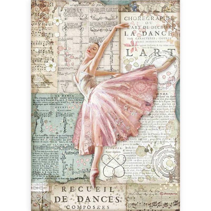 Ριζόχαρτο Stamperia 21x29cm, Passion, Dancer