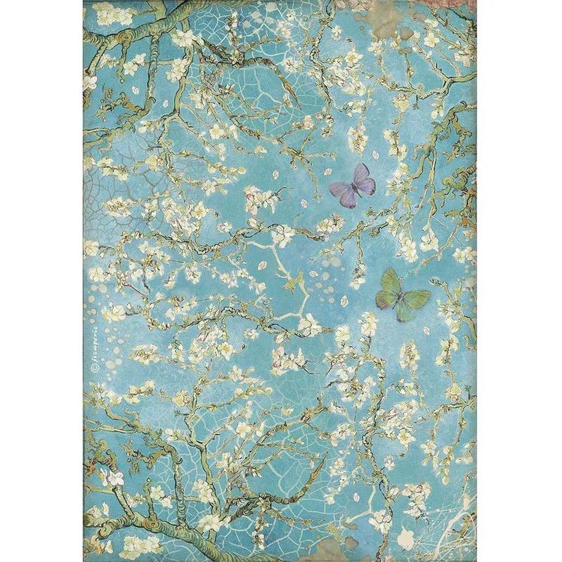 Ριζόχαρτο Stamperia 21x29cm, Atelier, Blossom with butterfly