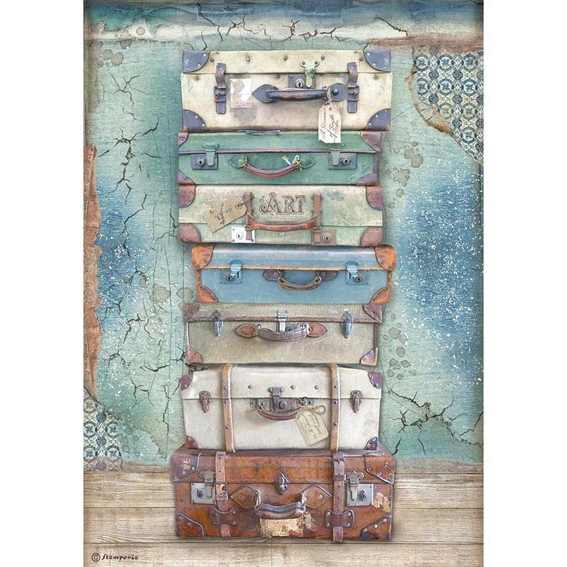 Ριζόχαρτο Stamperia 21x29cm, Atelier, Luggage