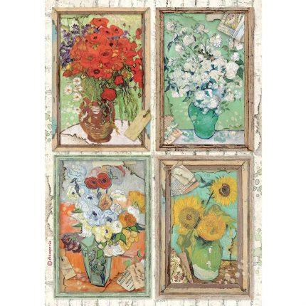Ριζόχαρτο Stamperia 21x29cm, Atelier Van Gogh