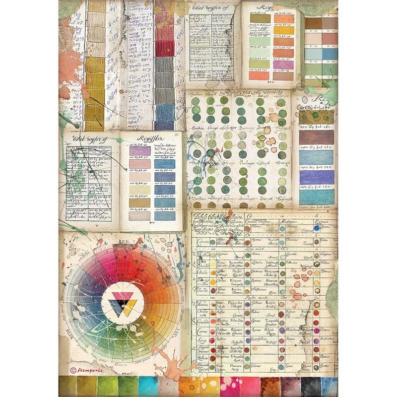 Ριζόχαρτο Stamperia 21x29cm, Atelier Pantone