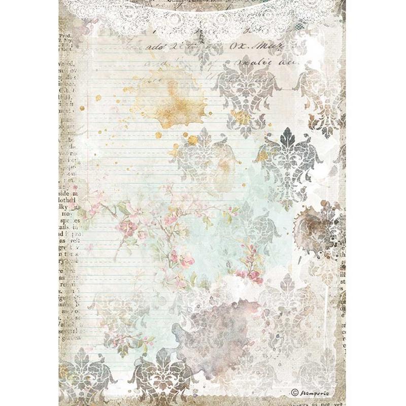Ριζόχαρτο Stamperia 21x29cm, Journal, Texture with lace
