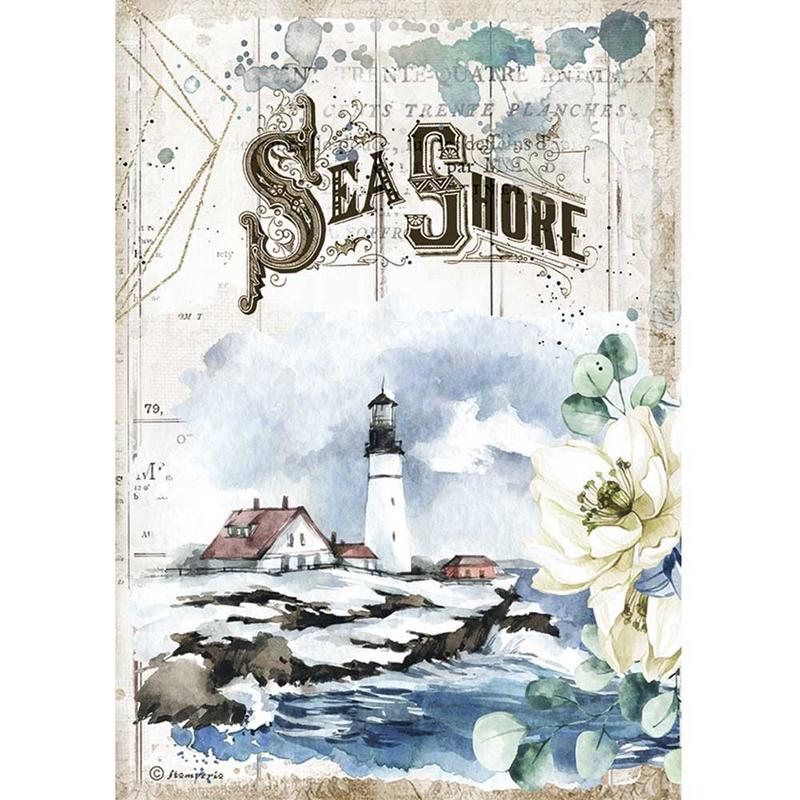 Ριζόχαρτο Stamperia 21x29cm, Sea Dream Sea Shore