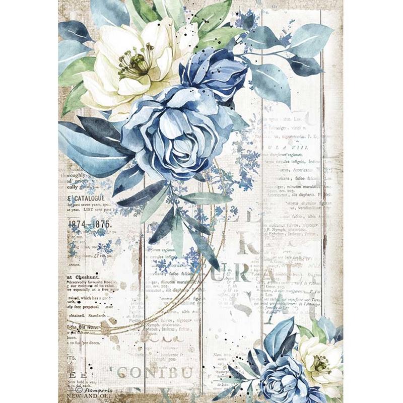 Ριζόχαρτο Stamperia 21x29cm, Sea Dream, Blue flower