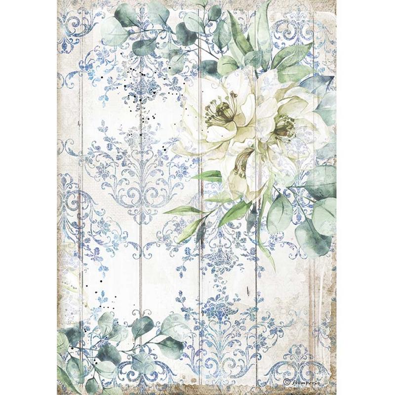 Ριζόχαρτο Stamperia 21x29cm, Sea Dream, White flower