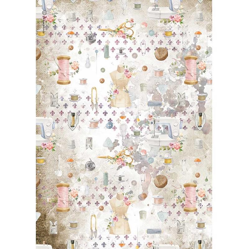 Ριζόχαρτο Stamperia 21x29cm, Threads, Decorations
