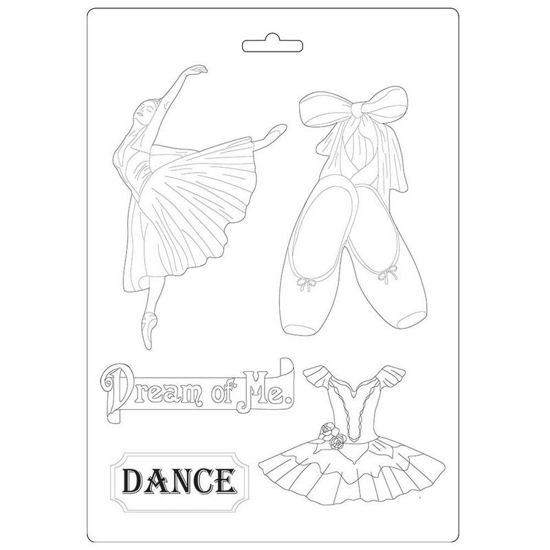 Καλούπι εύκαμπτο A4, 21x29cm, Stamperia, Passion Dancer