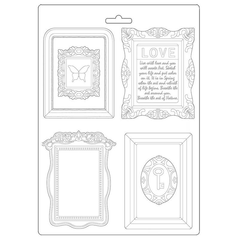 Καλούπι εύκαμπτο A4, 21x29cm, Stamperia, Atelier frames