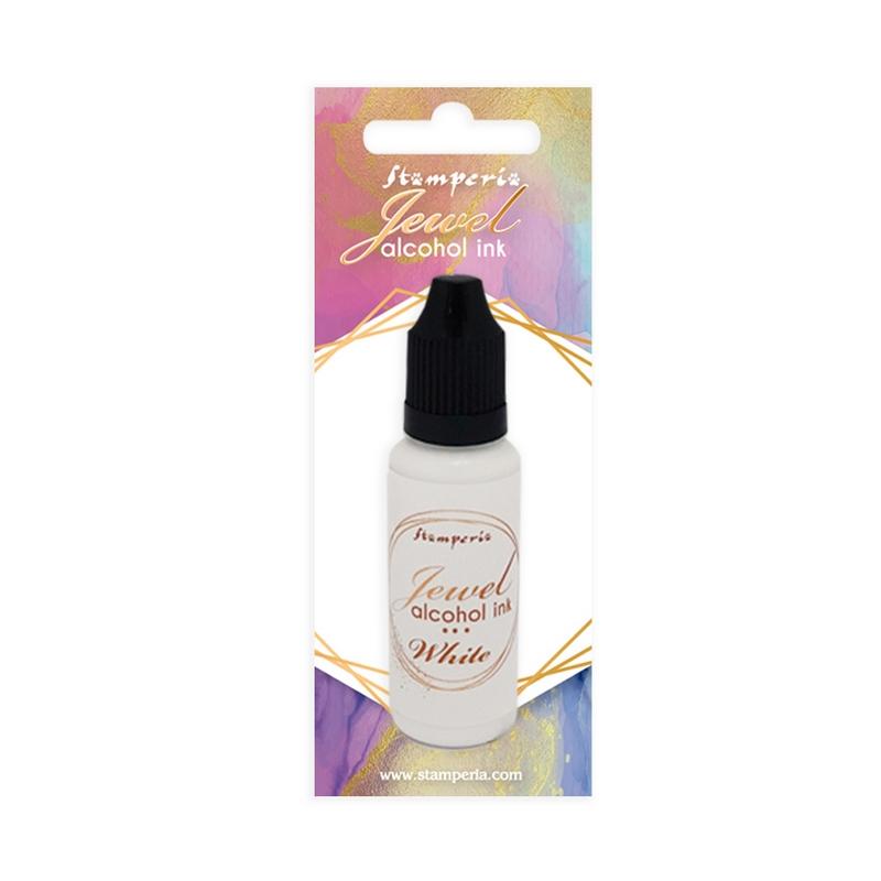 Μελάνι Jewel Alcohol Ink Stamperia 18 ml,  White