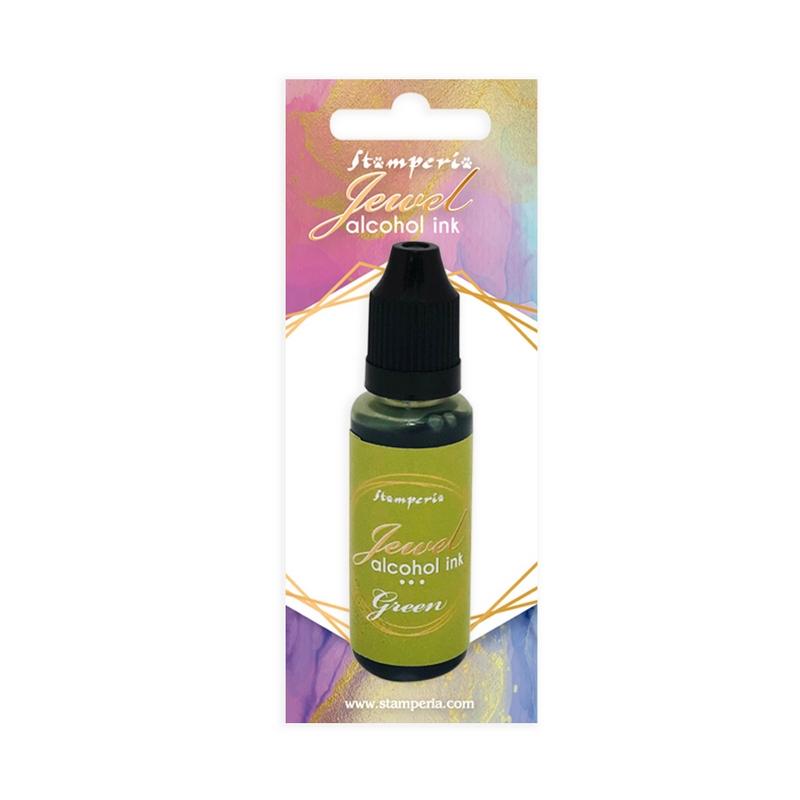 Μελάνι Jewel Alcohol Ink Stamperia 18 ml,  Green
