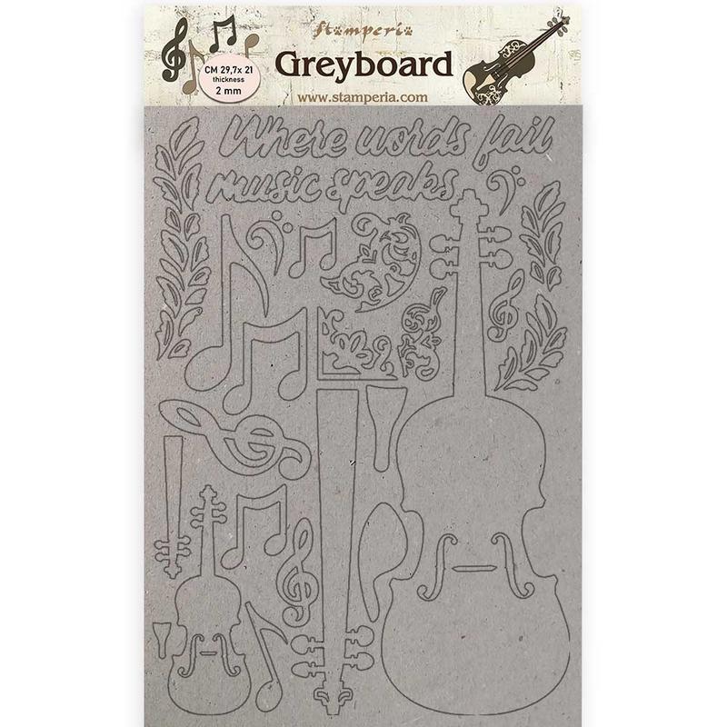Διακοσμητικά από χαρτόνι Stamperia, 21x29,7cm, Passion, Violin