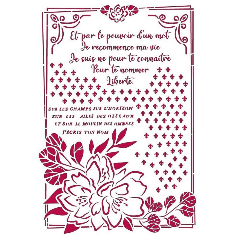 Στένσιλ Stamperia 21x29,7cm, Romantic Journal, Flower with frame