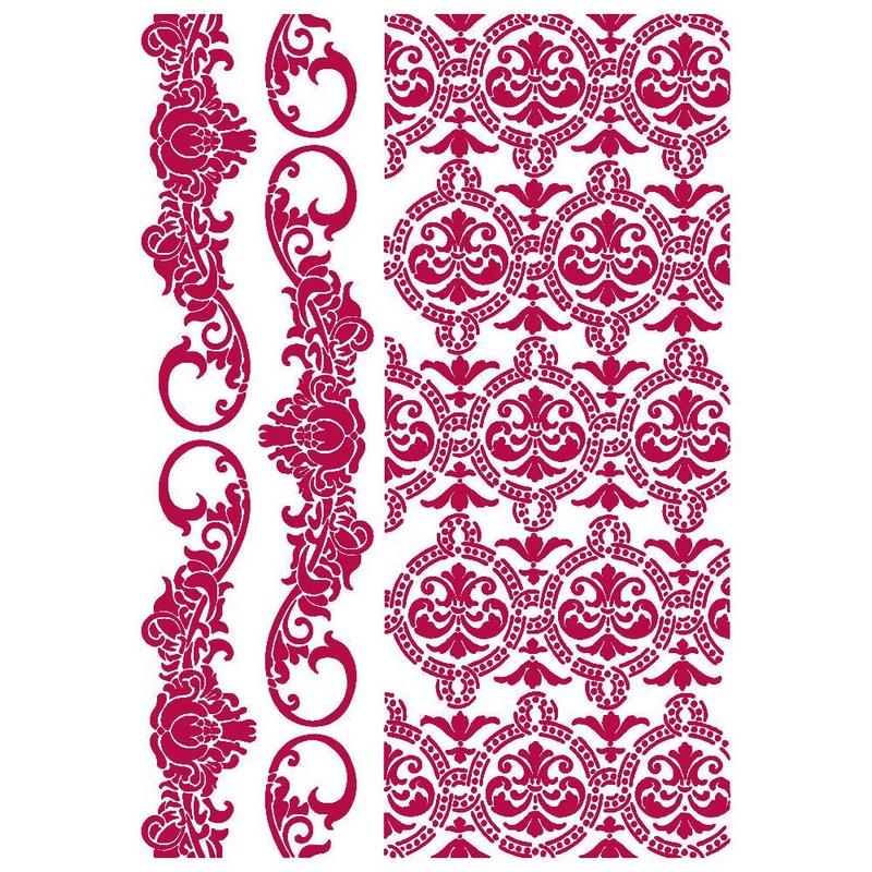 Στένσιλ Stamperia 21x29,7cm, Romantic Journal, Border and texture