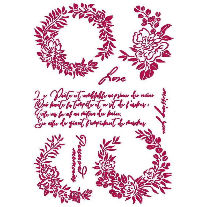 Στένσιλ Stamperia 21x29,7cm, Romantic Journal, Garlands Love