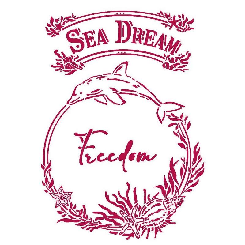 Στένσιλ Stamperia 21x29,7cm, Romantic Sea Dream, Freedom