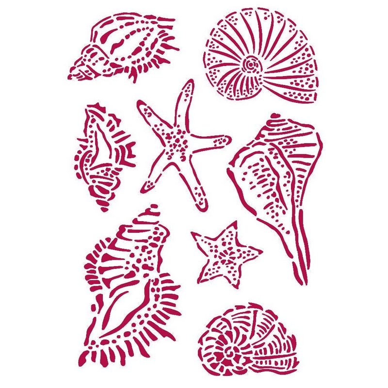 Στένσιλ Stamperia 21x29,7cm, Romantic Sea Dream, Shells