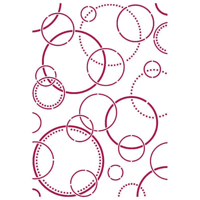 Στένσιλ Stamperia 21x29,7cm, Romantic Threads, Bubbles