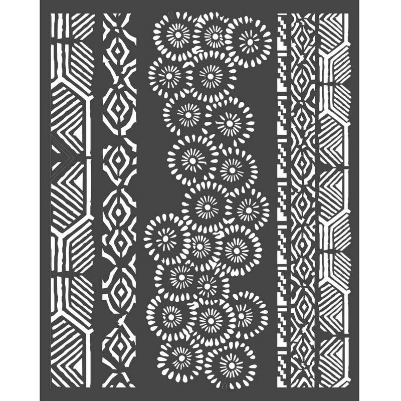 Thick stencil Stamperia 20x25cm, Amazonia, Tribals