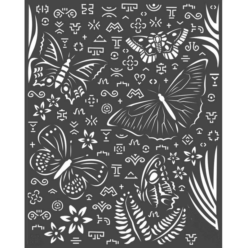 Thick stencil Stamperia 20x25cm, Amazonia, Butterflies
