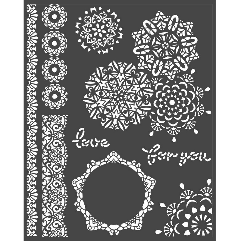 Thick stencil Stamperia 20x25cm,  Passion, Lace