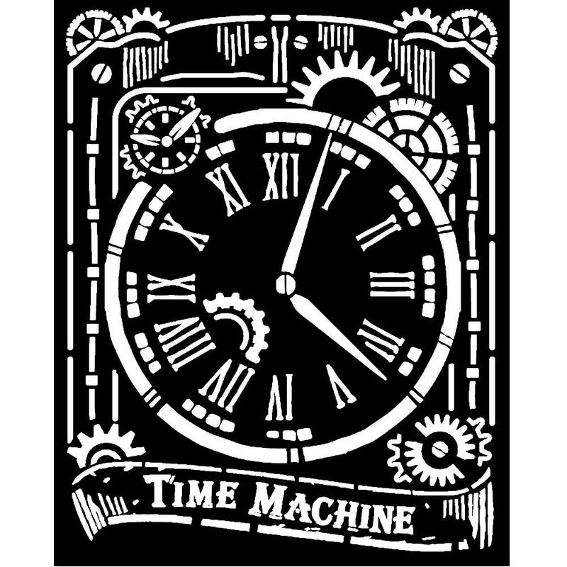 Thick stencil Stamperia 20x25cm,  Clock