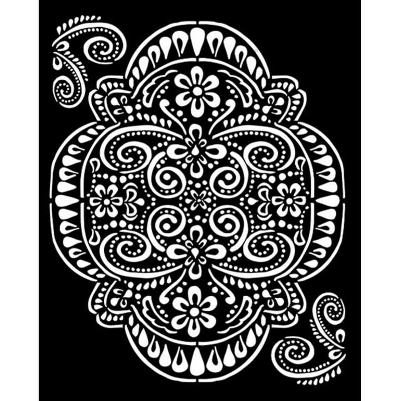 Thick stencil Stamperia 20x25cm,  Atelier, Lace