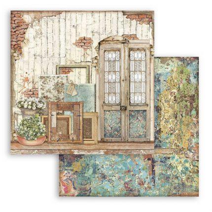 Χαρτί scrapbooking διπλής όψης 30x30cm Stamperia, Door