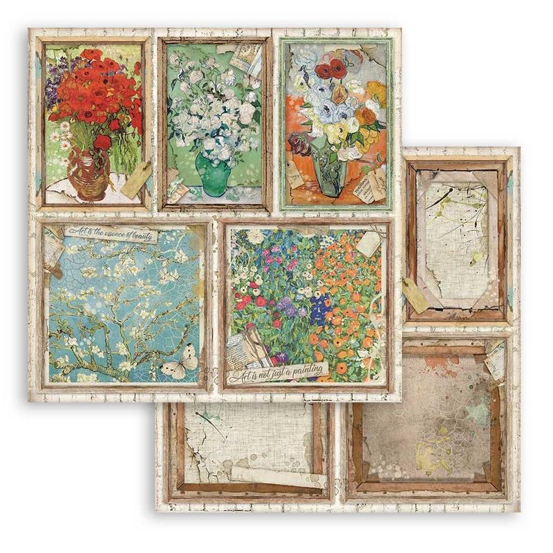 Χαρτί scrapbooking διπλής όψης 30x30cm Stamperia, Cards