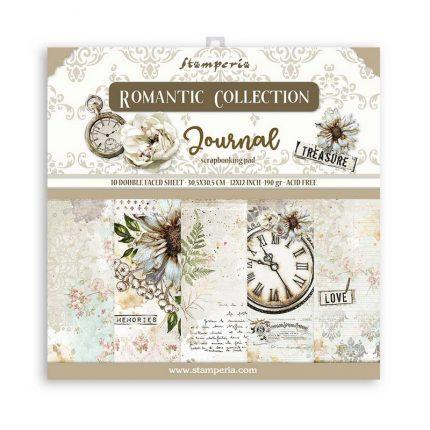 Χαρτιά scrapbooking Stamperia 10τεμ, 30.5x30.5cm, Romantic Journal