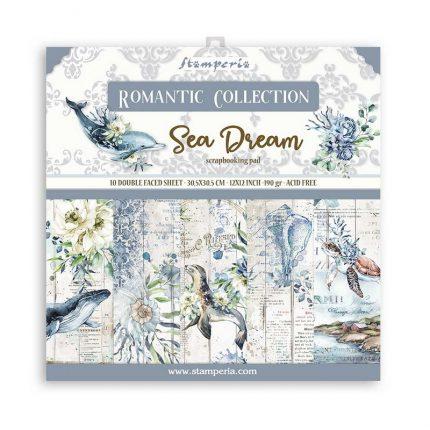 Χαρτιά scrapbooking Stamperia 10τεμ, 30.5x30.5cm, Romantic Sea Dream