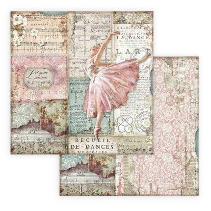 Χαρτιά scrapbooking Stamperia 10τεμ 15x30,5cm Passion