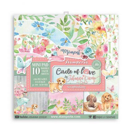 Χαρτιά scrapbooking Stamperia 10τεμ, 20.3x20.3cm, Circle of Love
