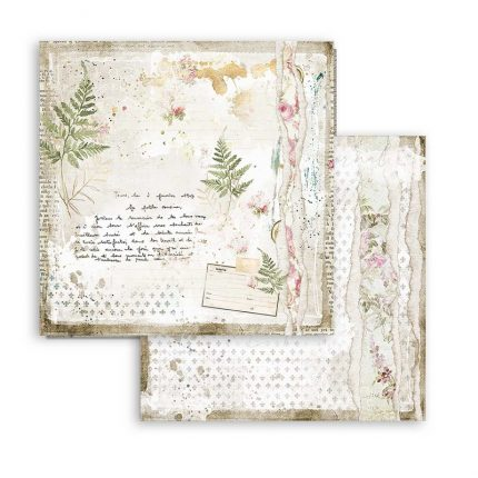 Χαρτιά scrapbooking Stamperia 10τεμ, 20.3x20.3cm, Romantic Threads