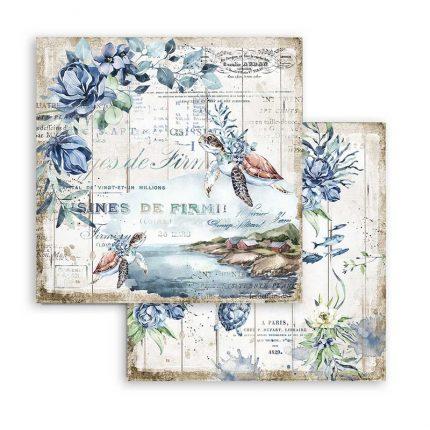 Χαρτιά scrapbooking Stamperia 10τεμ, 20.3x20.3cm, Romantic Threads