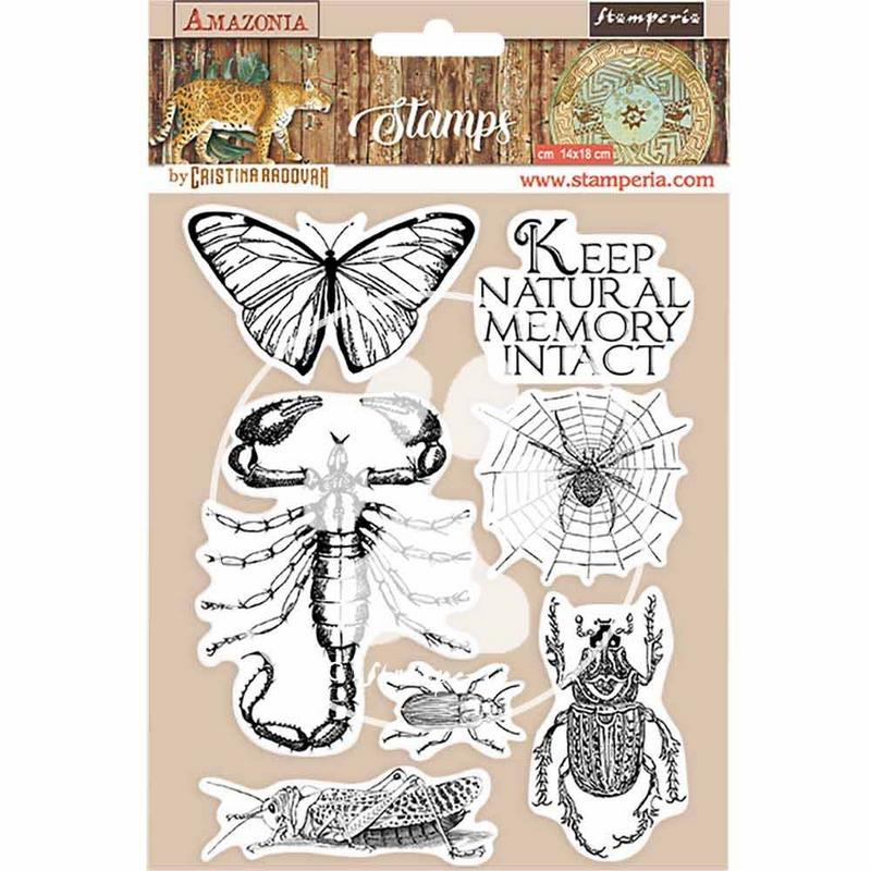 Σφραγίδα HD 14x18, Stamperia,  Amazonia, Butterly