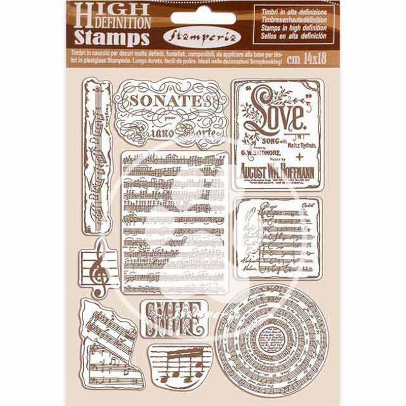 Σφραγίδα HD 14x18, Stamperia,  Passion, Music