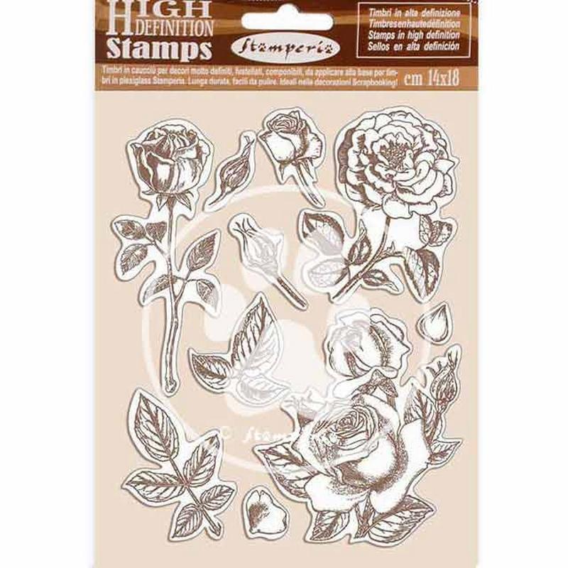 Σφραγίδα HD 14x18, Stamperia,  Passion, Rose