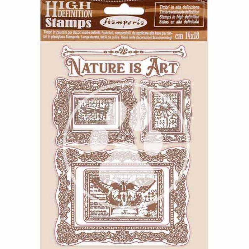 Σφραγίδα HD 14x18, Stamperia,  Nature is Art, Frame