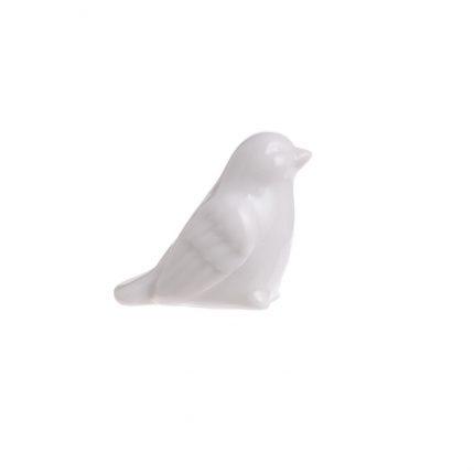 Κεραμικό πουλάκι μίνι 4cm, white