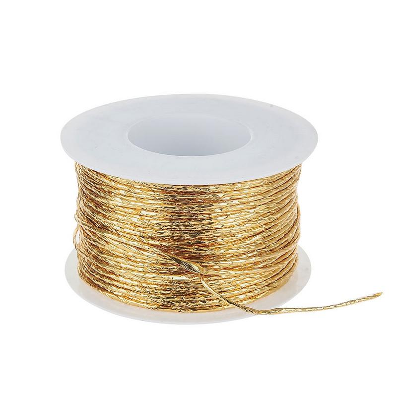Σύρμα καλυμμένο με χαρτί, gold 100m