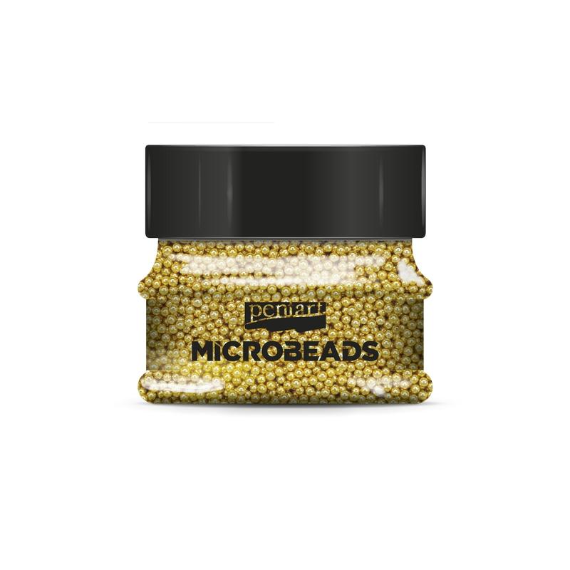 Πετρούλες Glass microbeads Pentart 0,8-1 mm 40gr, Silver