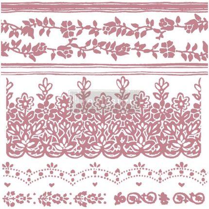 Σφραγίδα Re-design,  Stamped Damask, 30,5x30,5cm