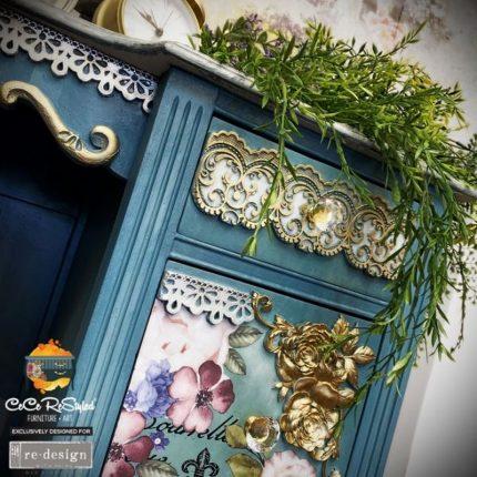 Καλούπι Redesign Prima Marketing 13x25,5cm, Delicate Floral Strands
