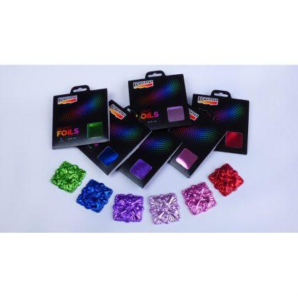 Μεταλλικά φύλλα χρωματιστά, 9x9cm, 5τεμ., Dark Purple