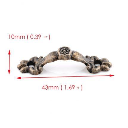 Χερουλάκια μεταλλικά, 4.3x1cm, 10 τεμ.
